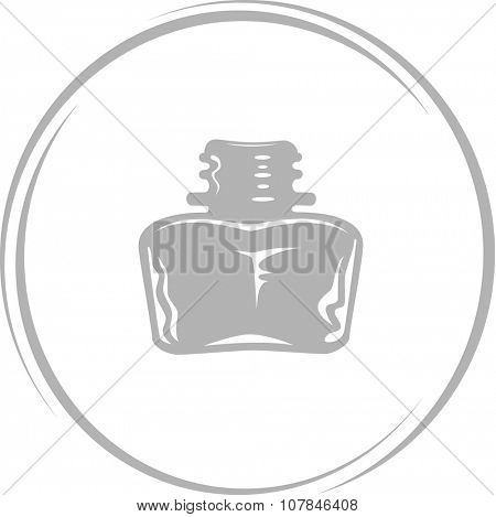 inkstand. Internet button. Vector icon.