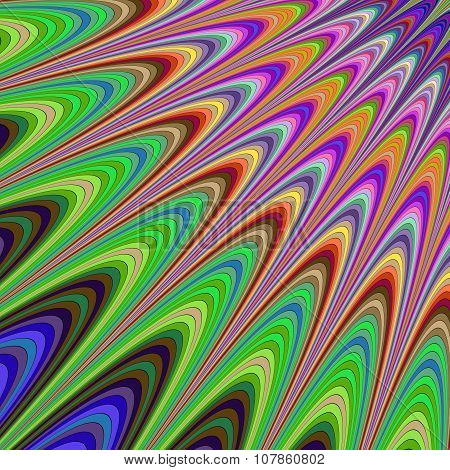 Colorful abstract sunshine fractal background