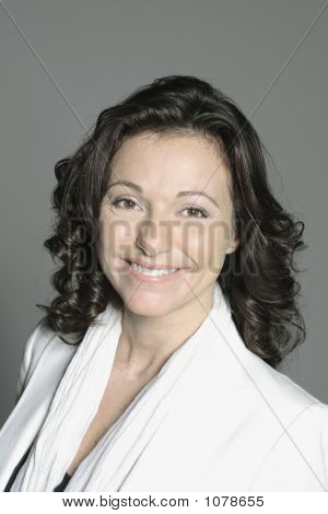 Portrait Of A Forty Years Old Woman