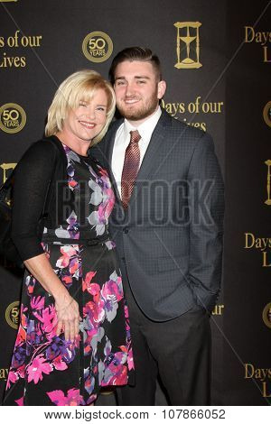 LOS ANGELES - NOV 7:  Judi Evans, Austin Luciano at the Days of Our Lives 50th Anniversary Party at the Hollywood Palladium on November 7, 2015 in Los Angeles, CA