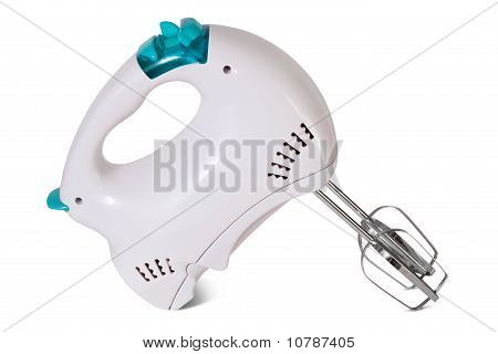 Electric Food Mixer On White