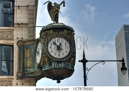 Father Time Clock - Chicago