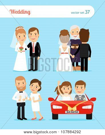 Wedding people vector