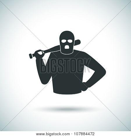 Criminal hoodlum icon