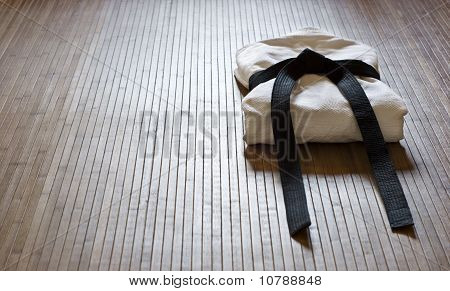 judo gi with copy space