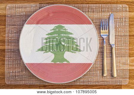 Dinner Plate For Lebanon