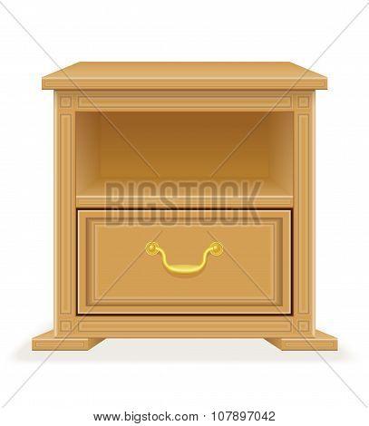 Nightstand Furniture Vector Illustration