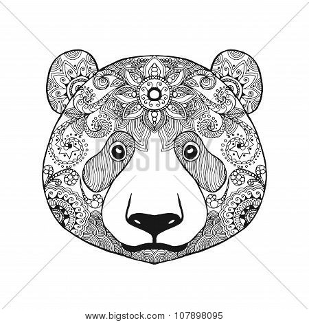 Cute Panda Bear Vector Photo Free Trial
