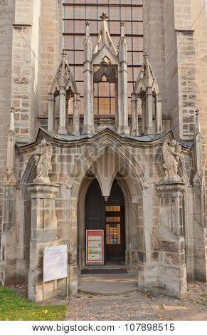 Portal Of Sedlec Cathedral, Czech Republic. Unesco Site