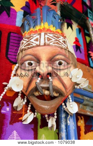 Peruvian Mask And Quilt