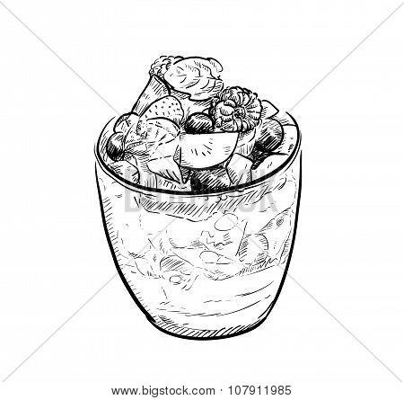 Fruit Parfait Doodle