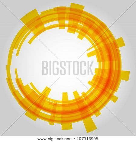 Abstract retro technology circle. Vector