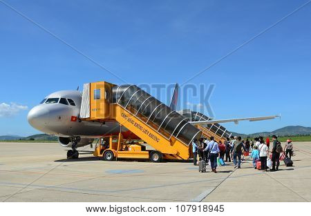 Airplane Of Jetstar Ready For Take Off