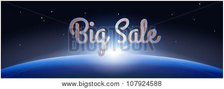 Big Sale Poster. Black Friday Banner.