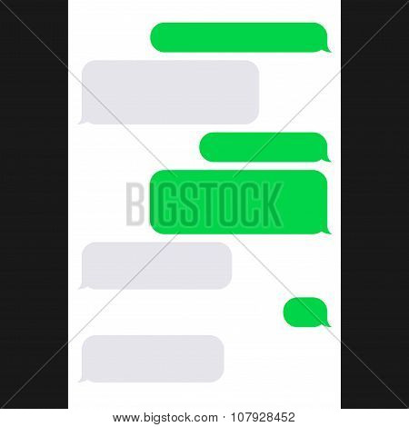 Smartphone SMS Chat Bubbles. Vector