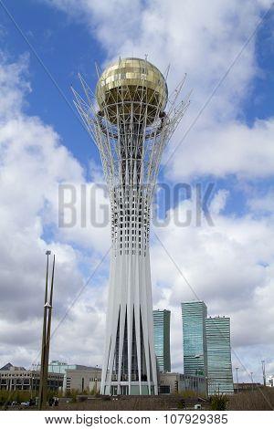 Main attraction of the capital of Kazakhstan - Astana-Baiterek monument
