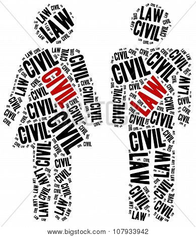 Civil Law. Concept Related To Different Areas Of Law.