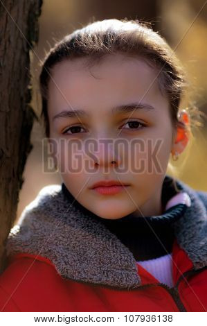 Portrait Of The Sad Girl.