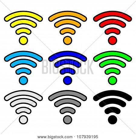 Wi-fi matted hotspot wireless signal symbol icon