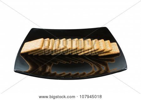 Cracker Isolated On White