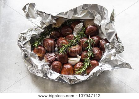 Chestnuts With Rosemary And Garlic
