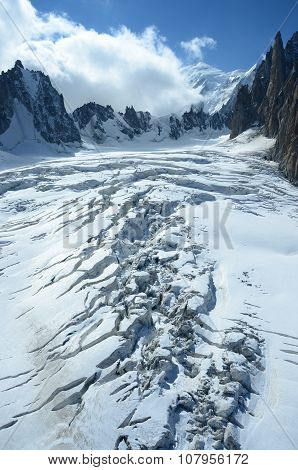 Crevasse on Glacier