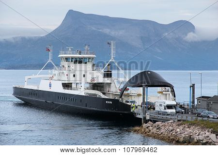 Ferry In Norway