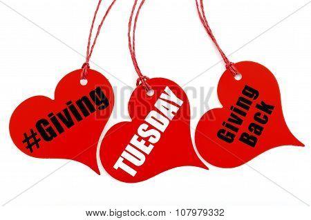 Giving Tuesday Heart Shape Ticket.