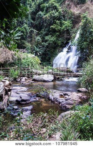 Pha Dok Sie Waterfall In Doi Inthanon National Park, Chiangmai Thailand