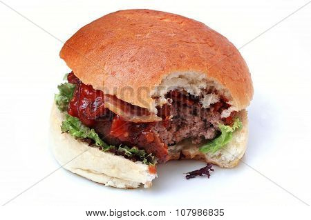 cooked burger meal