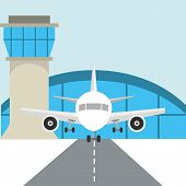 airport terminal design, vector illustration eps10 graphic poster