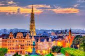View of Brussels city center - Belgium poster