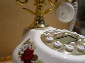 a smart telephone on table in room poster