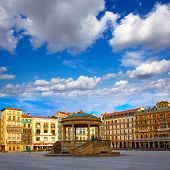 Pamplona Navarra in Spain plaza del Castillo square downtown poster