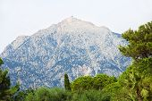 Mount Tahtali picturesque view.Kemer Antalya Province Turkey. poster