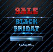Black Friday Sale Loading Bar Background. Design Template for eCommerce Business Website eps 10 vector poster