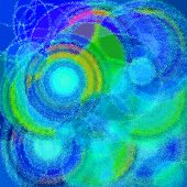 A colored seamless psychedelic spiral fractal pattern poster