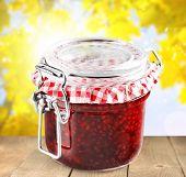 Preserves Jar Marmalade Strawberry Jam Gelatin Dessert Homemade Strawberry poster