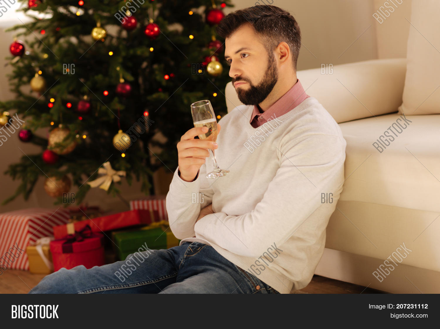 Lonely On Christmas.Lonely Christmas Sad Image Photo Free Trial Bigstock