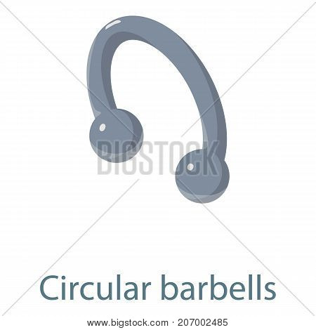 Circular barbells icon. Isometric illustration of circular barbells icon for web
