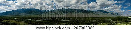 Moutain Rock in Himalaya India Nubra landscape