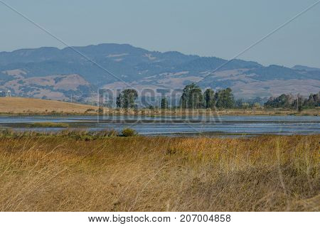 March,wetlands with water and the mountains an animals through out