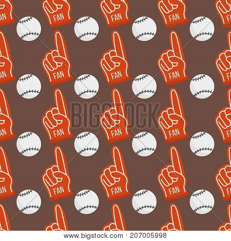 Seamless baseball balls pattern background equipment game vector illustration. Champion league equipment competition athletic sport patches.