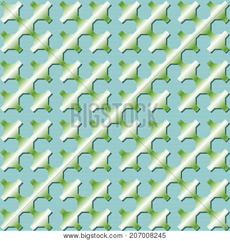 Sierpinski curve patterns. Light green gradient patterns using mathematical model of fractal recursive curve, vector EPS 10