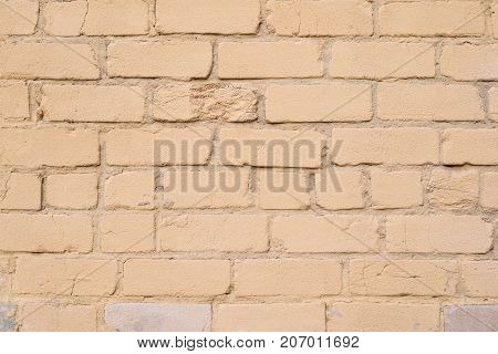Light Orange Brick Wall Texture