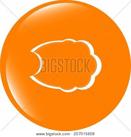 Cloud Icon On The Button . Flat Sign Isolated On White Background