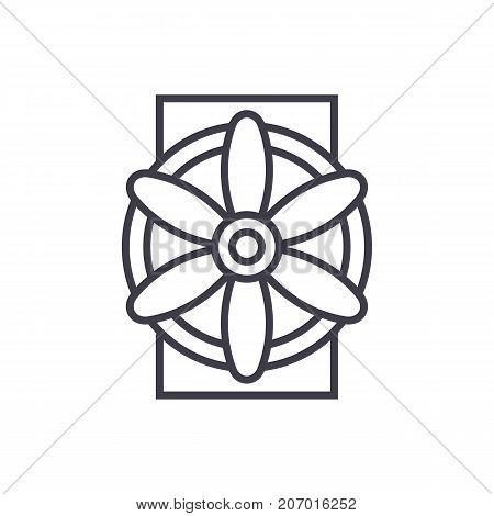 generator vector line icon, sign, illustration on white background, editable strokes