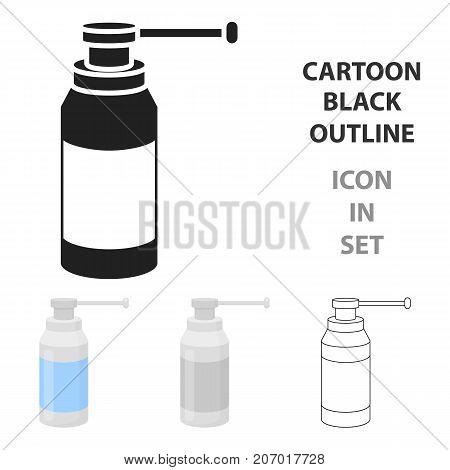 Throat spray icon cartoon. Single medicine icon from the  medical, healthcare cartoon.