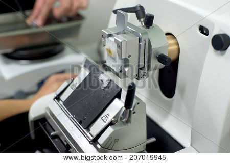 Rotary Microtome Section for diagnosis in pathology
