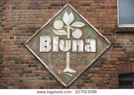 LANG-GOENS GERMANY JULY 2017: BLUNA is traditional brand of lemonades in Germany. Since 1994 based in Überkingen-Teinach AG Baden-Würtemberg Germany